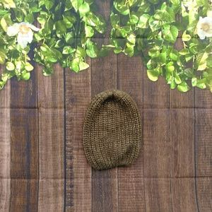 Army green with silver matalic shimmer slouchy hat